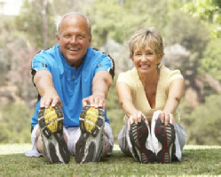 MorphFit couple exercising outside